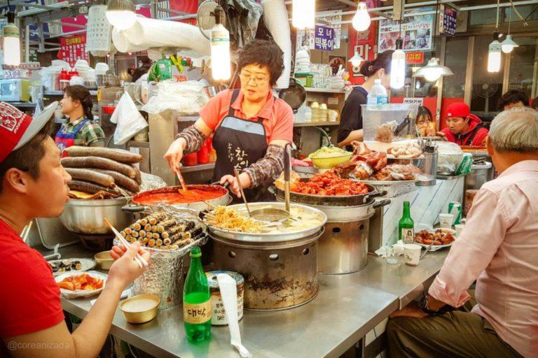 Comida coreana callejera