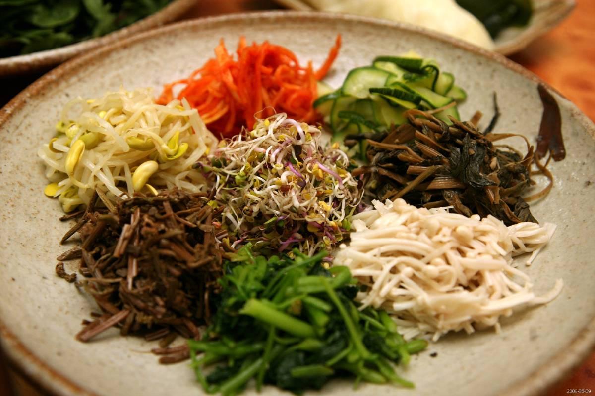 Receta Namul coreano